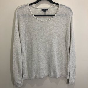 Gap Lightweight Knit Grey Pullover Sweater Size S